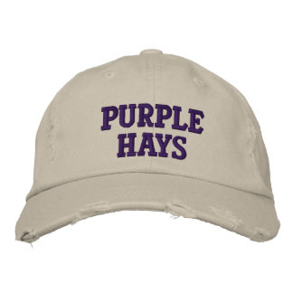 purple hays embroidered hat