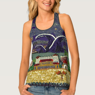 Purple Haze Bondi Art by Sequin Dreams Studio Singlet