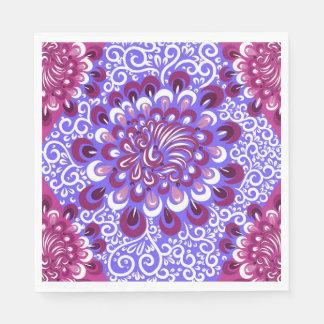 Purple haze disposable napkin