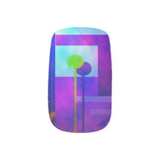 purple haze nails sticker