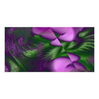 Purple Haze Personalized Photo Card