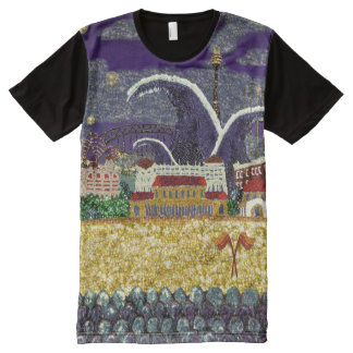 Purple Haze Sequin Art Print Sydney Australia All-Over Print T-Shirt