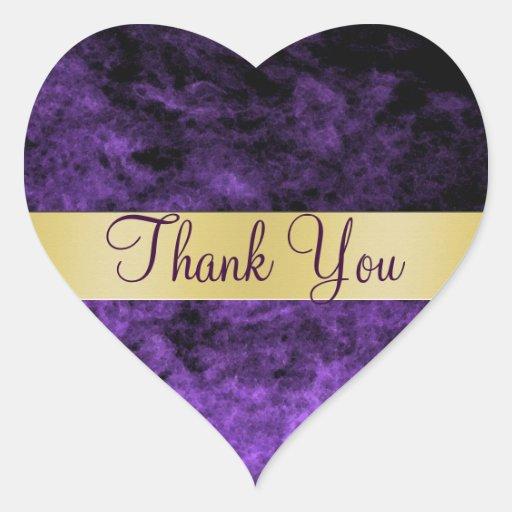 Purple Haze Thank You Heart Sticker