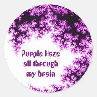 purple hazed round sticker