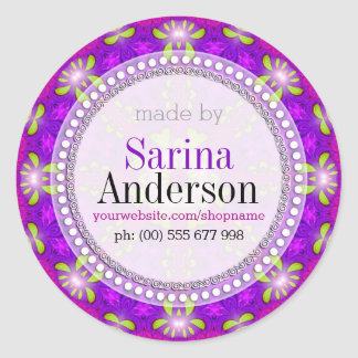 Purple Healing Light Mandala Made By Labels