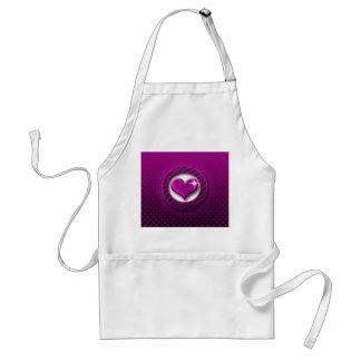 Purple heart aprons
