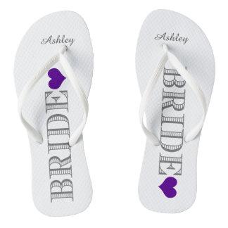 Purple Heart Bride's Thongs