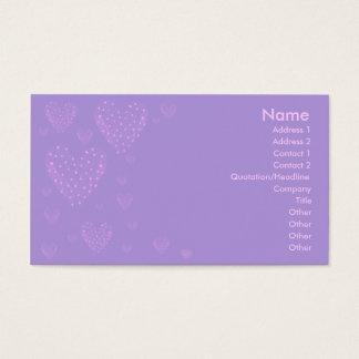 Purple Heart Business Card