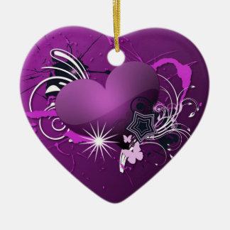 purple heart christmas ornament