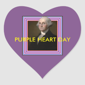 PURPLE HEART DAY STICKER
