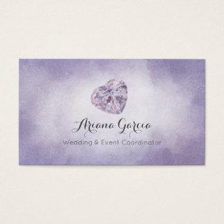 Purple Heart Gemstone Jewelry Business Card