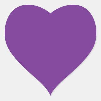 Purple Heart Heart Sticker