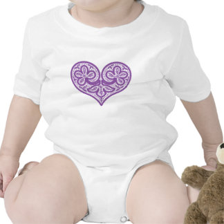 Purple Heart Infant Creeper