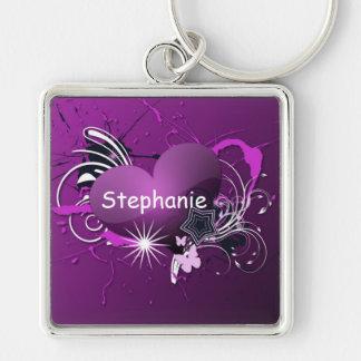 purple heart keychain
