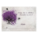 Purple Heart Leaf Tree Table Place Cards