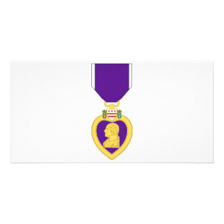 Purple Heart Medal Personalized Photo Card