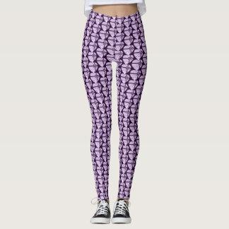 Purple Heart Pansies Leggings