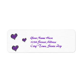 purple heart return address labels