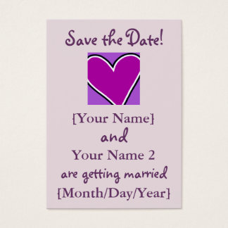 Purple Heart Save the Date Cards