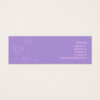Purple heart Skinny Card 2