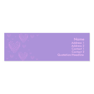 Purple heart Skinny Card 2 Pack Of Skinny Business Cards