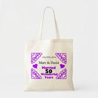 Purple Heart Swirls Names & Date 50 Yr Anniversary