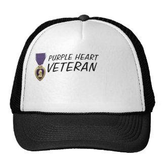 PURPLE HEART VETERAN CAP MESH HATS