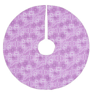 Purple Hearts and Diamonds Brushed Polyester Tree Skirt