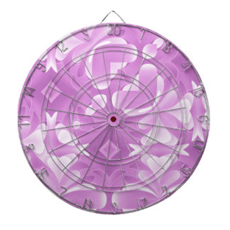Purple Hearts and Diamonds Dartboard