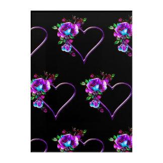 Purple Hearts Art