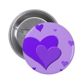 Purple Hearts Button