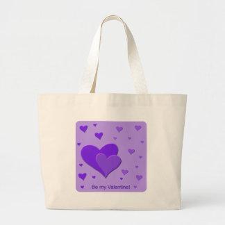Purple Hearts Tote Bags