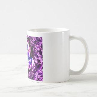 Purple Hearts Basic White Mug