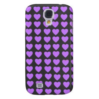 Purple Hearts HTC Vivid phone case Samsung Galaxy S4 Covers