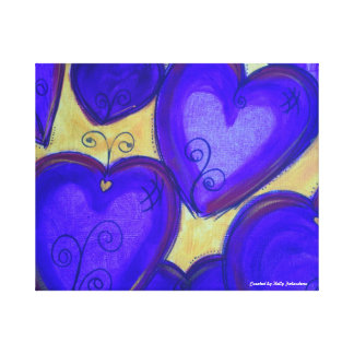 Purple Hearts of Love Canvas Print