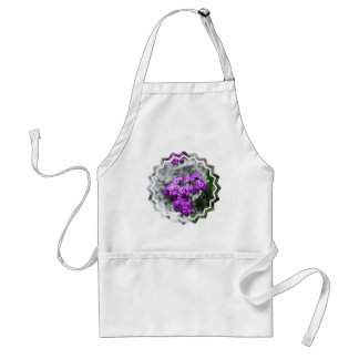 Purple Heliotrope Flowers Apron