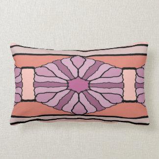 Purple Hex Lumbar Cushion