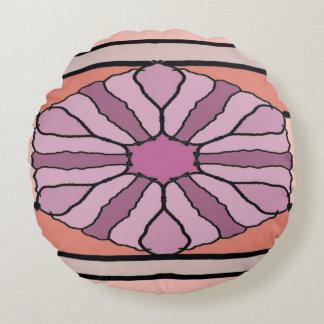 Purple Hex Round Cushion