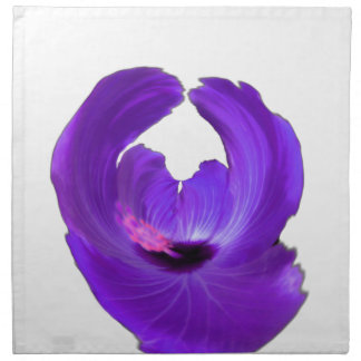Purple Hibiscus Abstract Flower 201711h Napkin