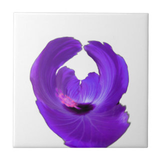 Purple Hibiscus Abstract Flower 201711h Tile