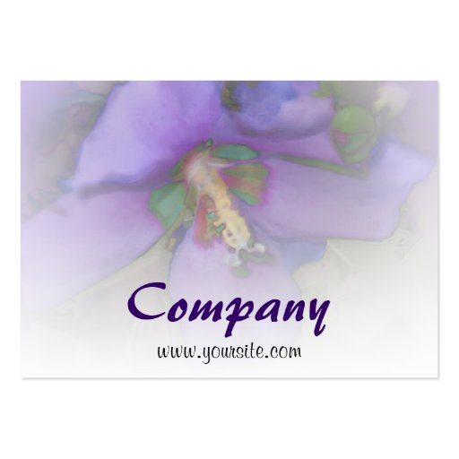 Purple Hibiscus Business Card Templates