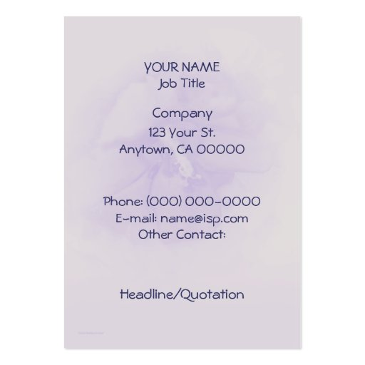 Purple Hibiscus Business Cards