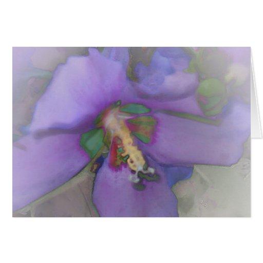 Purple Hibiscus Greeting Cards