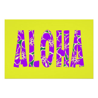 Purple Hibiscus Flowers Hawaiian Aloha Luau Party
