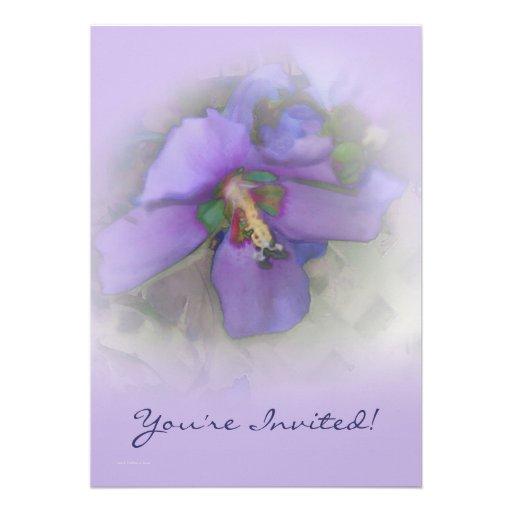 Purple Hibiscus Personalized Invites