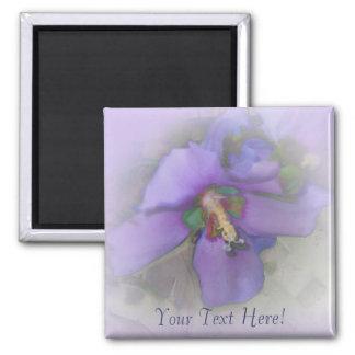 Purple Hibiscus Fridge Magnet