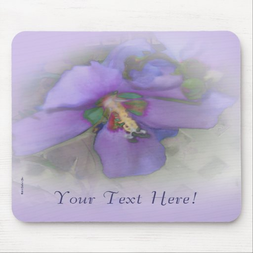 Purple Hibiscus Mousepads