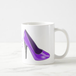 Purple High Heel Shoe Coffee Mug