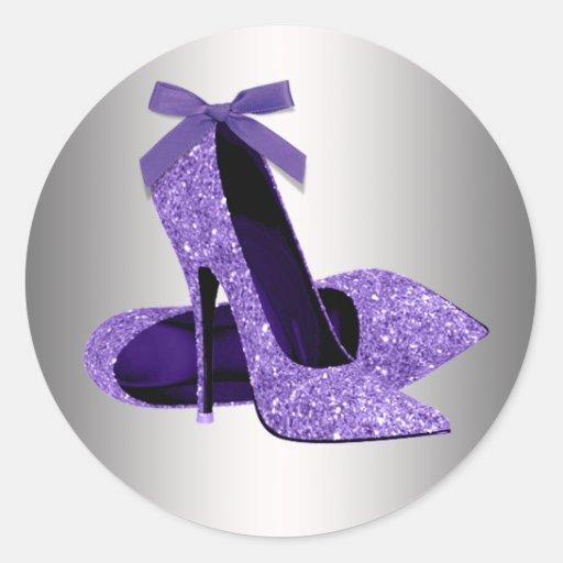 Purple High Heel Shoe Stickers