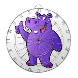 purple hippo cartoon dart boards